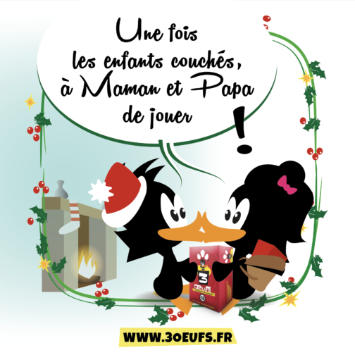 illustration noël 3 oeufs